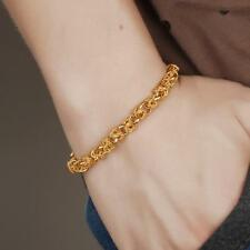 Men Jewelry Dragon Clasp Bracelet 18K Yellow Gold Filled Jewelry Women Chain