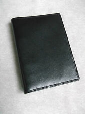 FILOFAX WALLET REAL LEATHER SLIM POCKET FILE BLACK ORGANISER NEW 15MM DIAMETER