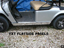 Ezgo medalist/txt Golf Cart  Diamond Plate Flat rocker Panels
