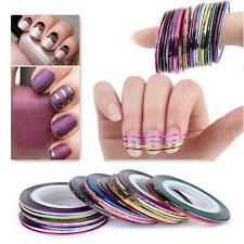 DIY10Pcs Mixed Colors Rolls Striping Tape Line Nail Art Decoration Sticker US
