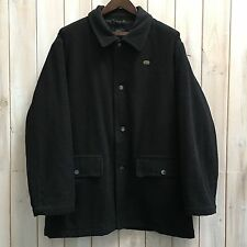 Lacoste Men's Charcoal Grey Wool Blend Car Coat Overcoat Jacket 56 XL / XXL