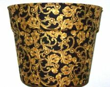 GUILDED GOLD FILIGREE  FLOWERPOT GIFT WRAP BASKET SUPPLIES CONTAINER CENTERPIECE