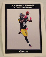 """Antonio Brown FATHEAD Ad Panel 6"""" x 4"""" Steelers NFL Official Wall Graphics Decal"""