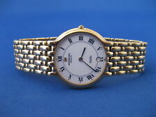 RAYMOND WEIL FIDELIO 4208 18K GOLD PLATED MENS WATCH - CLEAN w/ NEW BATTERY