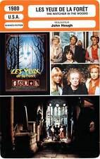 FICHE CINEMA : LES YEUX DE LA FORET - Davis,Johnson 1980 Watcher in the Woods
