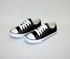 Kid's Classic Shoes Canvas Athletic Lace Tennis Girl's Boy's Rubber Sole