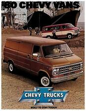 1980 Chevrolet Vans Factory Brochure-14 pages-Chevy Beauville Nomad 1979 1981