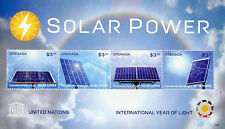 Grenada 2015 MNH UNESCO International Year of Light Solar Power 4v M/S Stamps