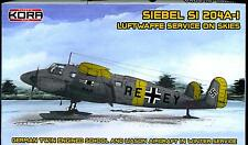KORA Models 1/72 SIEBEL Si-204A-1 Luftwaffe Service on Skis