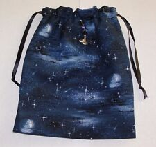 Space Scene, Moon and Stars Tarot, Runes, Crystals  Angel Bag