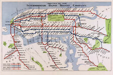 NEW YORK CITY Rapid Transit Co. MAP 1924 Vintage Repro Art Print Poster 24x36