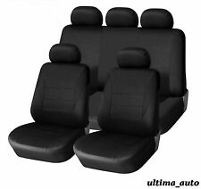 9 PCS FULL BLACK LIGHT FABRIC CAR SEAT COVERS SET FOR NISSAN NAVARA 2001-2005