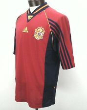 Adidas Mens Espana Spain RFEF Jersey Top T Shirt Medium Made in Portugal EUC