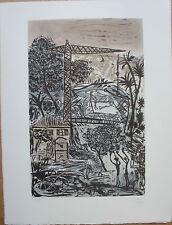 CANE Louis - Gravure signée épreuve d'artiste paysage gris