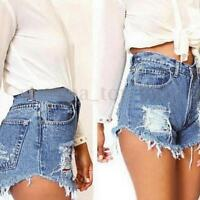 2016 Women Ladies Vintage High Waist Denim Shorts Jeans Summer Hot Pants UK 6-20