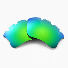 New Walleva Polarized Emerald Vented Lenses For Oakley Flak Jacket XLJ