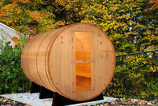 Barrel Sauna, Red Cedar, Electric Heater Included, 8 Feet, Fits 6 (BRT-68)