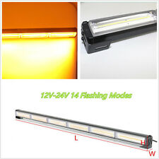 12-24V Amber LED COB Autos SUV Roof Emergency Traffic Advisor Strobe Light Strip