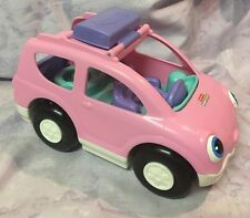 Fisher Price Little People Toy Car Van Family Baby Mom Figure Talking Pink
