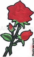 Rose Blume Rot Aufnäher Patch Applikation Bügelbild Flicken Deko 10,5 cm x 18,5