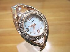 BRAND NEW LADIES HENLEY WATCH MOTHER OF PEARL DIAL DIAMANTE STONES ROSE GOLD