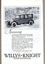 1923 Print Ad Willys-Knight Seven Passenger Cars Willys-Overland Toledo,OH