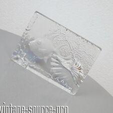 alter Goebel XXL Bleikristall Design Fisch Skulptur Eisglas 3 Kilo Vintage 1983