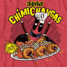 NWOT Marvel Deadpool Chimichangas Wade Wilson Tacos T-Shirt LICENSED Dead Pool