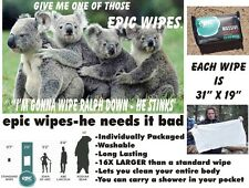 5 Epic Wipes - Giant Wet Wipes-Lets You Clean Your Entire Body!!!-- In Stock