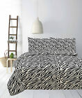 Zebra Micromink Reversible Quilt Doona Cover Set - Single Double Queen King
