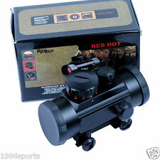 Scopes 1x40 Red Green Dot Pointer Hunting Illuminated Sight 20mm & 11mm Rail #10