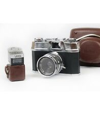 Halina super 35x 35mm with lens F.C. 45mm f/3.5 with case and light meter Varia