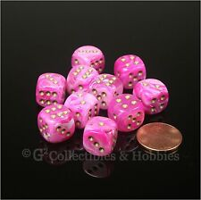 NEW 10 Vortex Pink 12mm 1/2 inch D6 Set Six Sided RPG MTG Game Dice Chessex