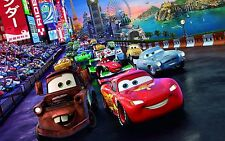 Disney Cars Cartoon Movie Poster High Quality Canvas Kids Art Print Unframed