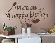 Happy Kitchen Wall Decal, Wall Decal, sticker, mural