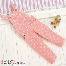 ☆╮Cool Cat╭☆365.【OL-04】Blythe/Pullip Denim Bib & Brace Overalls # Pink Dot
