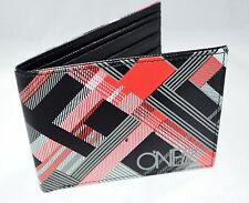 O'Neill Men Wallet Plaid Black Red printed Graphic