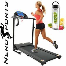 TREADMILL Folding Running Machine Motorised Electric Fitness New by NERO SPORT