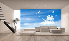 OLD FANTASY SHIP SAILING IN CLOUDS Wall Mural Photo Wallpaper GIANT WALL DECOR