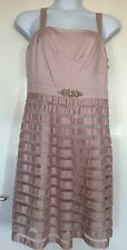 SIZE 18 CHAMPAGNE MONSOON SHEATH DRESS, BMWT, RRP £265 EUROS, PLUS SIZE, FORMAL
