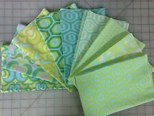 OOP Amy Butler Midwest Modern 1 & 2 Fabric Fat Quarter Bundle in Blue and Green