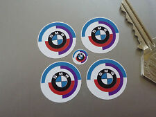 BMW Motorsport Gunsight Roundel Logo Race Racing Car STICKERS 25mm Set of 4