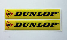 Dunlop stickers/decals 2 X 75mm X 13mm-Alto Brillo semicirculares De Gel Acabado