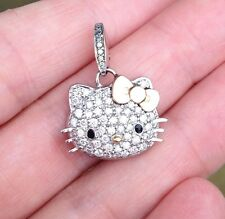 HELLO KITTY 18k White Gold and Diamond Pendant by Kimora Lee Simmons