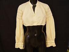 Gr.46 Dirndlbluse langarm Vintage mit V-Ausschnitt dünne Bluse für Dirndl B713