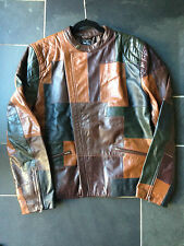"PAUL SMITH ""PS"" Multi Colour panel Leather Biker Jacket - size L - 42 / 52"