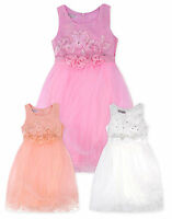 Girls Sleeveless Party Dresses New Kids Summer Bridesmaid Dress Ages 3-12 Years