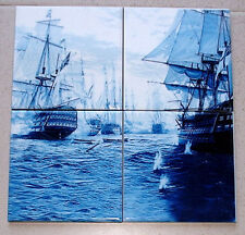 Battle of Trafalgar Hms Victory 4 piece Ltd. Edition CERAMIC TILE SET rare