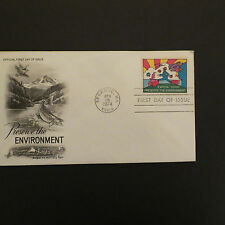PETER MAX-1974 First Day of Issue Cover & Stamp- PRESERVE THE ENVIRONMENT !