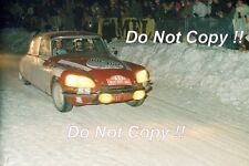 Francisco Romaozinho Citroen DS21 Monte Carlo Rally 1972 Photograph